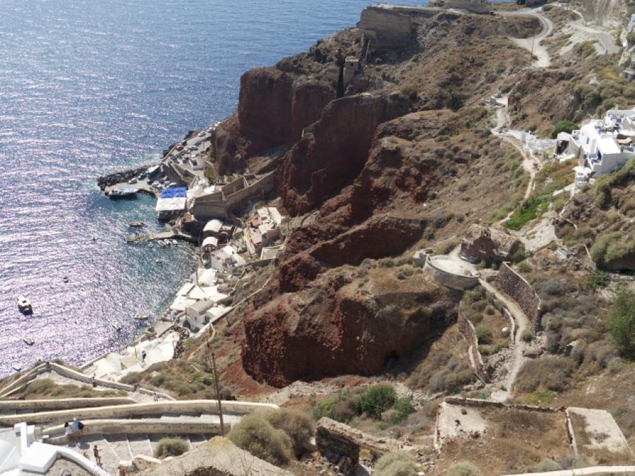 Hafen Oia Santorini Reisebericht
