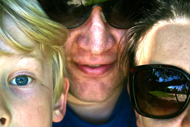 Tanja mit ihren beiden Männern