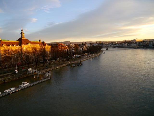 Basel_Sonnenuntergang am Rhein