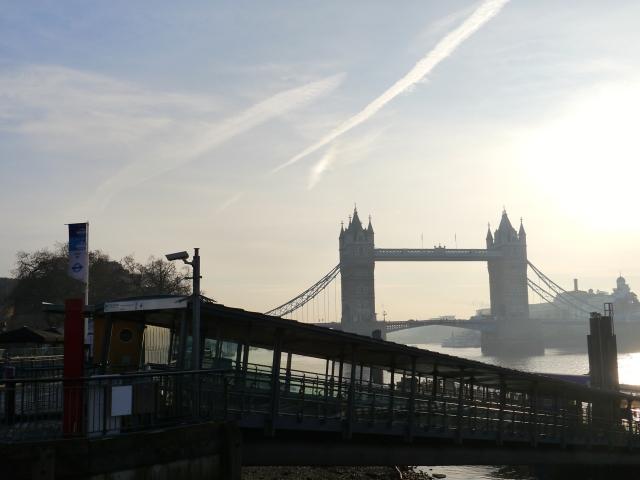 London Bridge am Themse Ufer