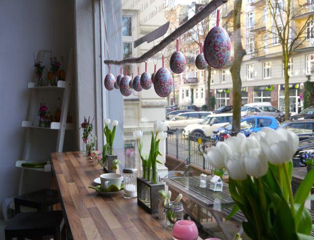 Frühlingshafte Fensterplätze in der Speisekammer