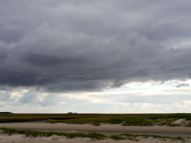 Sankt Peter Ording Wolken am Strand