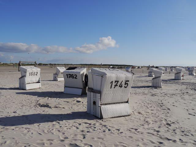 Strandkörbe in Sankt Peter Ording
